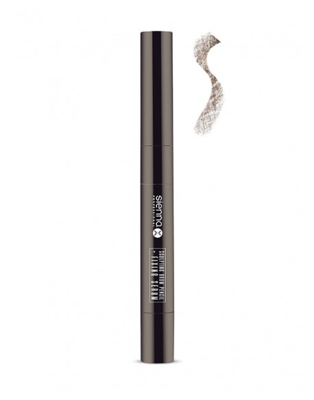 SCULPTING BROW PENCIL + FIXING SERUM WARM BRUNETTE