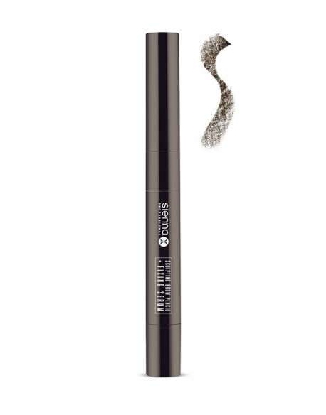 SCULPTING BROW PENCIL + FIXING SERUM  NATURAL BLACK